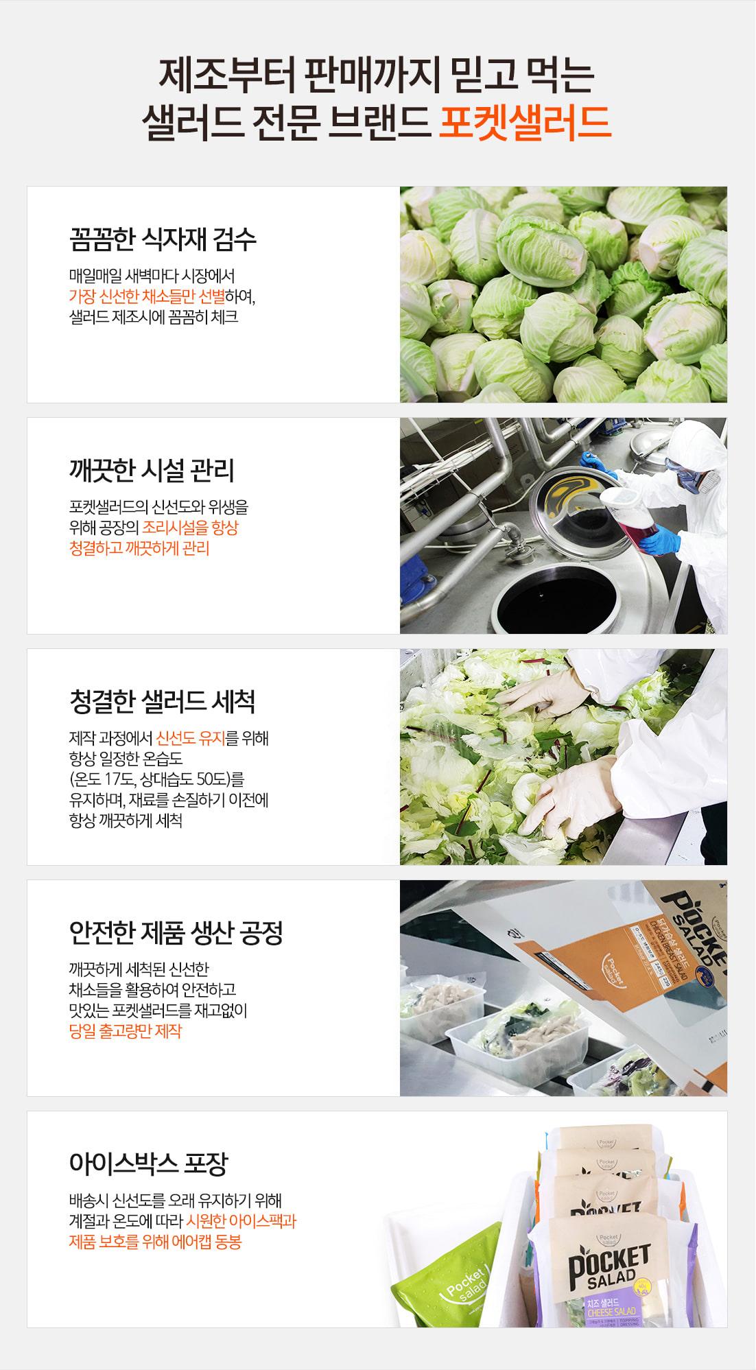 포켓샐러드_생산과정